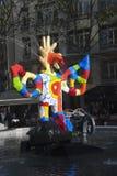 Stravinsky springbrunn - Paris Arkivbilder