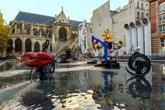 Stravinsky springbrunn Paris Arkivfoton