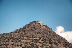 Stravovanie świątyni kasztel na górze Obraz Royalty Free