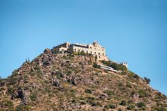 Stravovanie temple castle on the mountain Royalty Free Stock Images