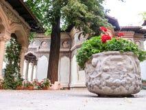 Stravropoleos church and monastery arhitecture Royalty Free Stock Photography