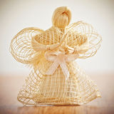 Straw angel. Royalty Free Stock Photo