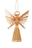 Straw angel. A hand made christmas angel with isolated background Royalty Free Stock Image