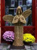 Straw angel royalty free stock photo