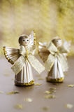 Straw angels Stock Image