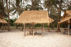 Straw arbour house Royalty Free Stock Photos