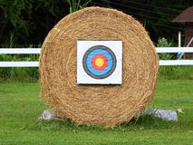Straw archery target Royalty Free Stock Photo