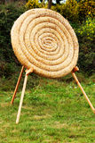 Straw archery target practice competition concept Royalty Free Stock Images