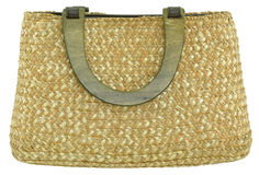 Straw Bag Royalty Free Stock Images