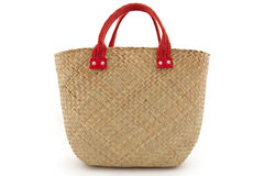 Straw bag Royalty Free Stock Image