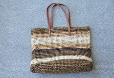 Straw bag Stock Image