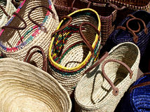 Straw bags Royalty Free Stock Image