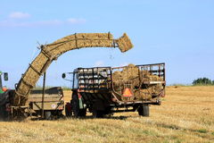 Straw bale and agricultural engineering Stock Images