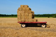 Straw Bale Cart Stock Images