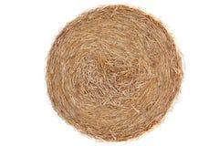 Straw bale on cornfield  Royalty Free Stock Photography