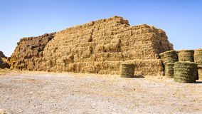 Straw bale farm food Royalty Free Stock Image