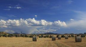 Straw Bale Landscape Stock Photos