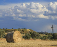 Straw Bale Landscape Stock Photography