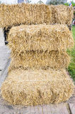 Straw bale. A pile of yellow straw bale Stock Photos
