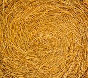 Straw Bale rond Photos stock