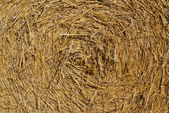 Straw Bale Texture. A bale of wheat straw close up Stock Photos