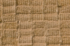 Straw bale texture. Wheat straw bale stack texture Royalty Free Stock Images