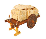 Straw bale trailer Royalty Free Stock Images