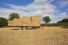 Straw bale trailer Royalty Free Stock Photography