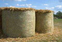 Straw bales. royalty free stock photos