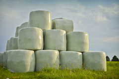 Straw bales. In plastic envelope Stock Photos