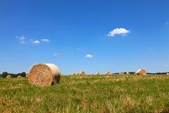 Straw Bales auf einem Feld Lizenzfreies Stockfoto