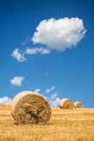 Straw bales. Royalty Free Stock Images