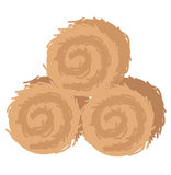 Straw bales. Illustration of straw bales Stock Images