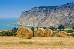 Straw bales landscape Stock Photos