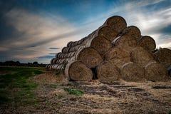 Straw bales Stock Image