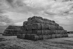 Straw bales pyramid Royalty Free Stock Image