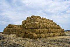 Straw bales pyramid Stock Photography