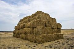 Straw bales pyramid Stock Image