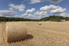 Straw bales in Sarthe department Stock Photos