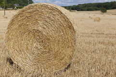 Straw bales in Sarthe department Stock Photography