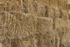 Straw bales stacked Royalty Free Stock Photography