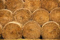 Straw bales texture royalty free stock photos