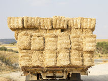 straw bales on truck Royalty Free Stock Image