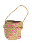 Straw Basket Stock Photo