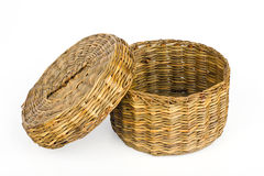 Straw basket Stock Photos