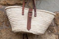 Straw basket Stock Photography