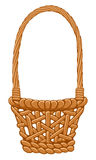Straw basket Stock Image