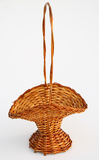 Straw basket old Royalty Free Stock Photos