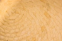 Straw basket texture close. Close up basket made of straw for abstract background royalty free stock image