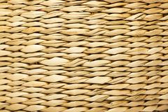 Straw basket texture. The texture of the straw basket. The concept of summer, garden furniture, vacations, beach accessories, etc stock photo